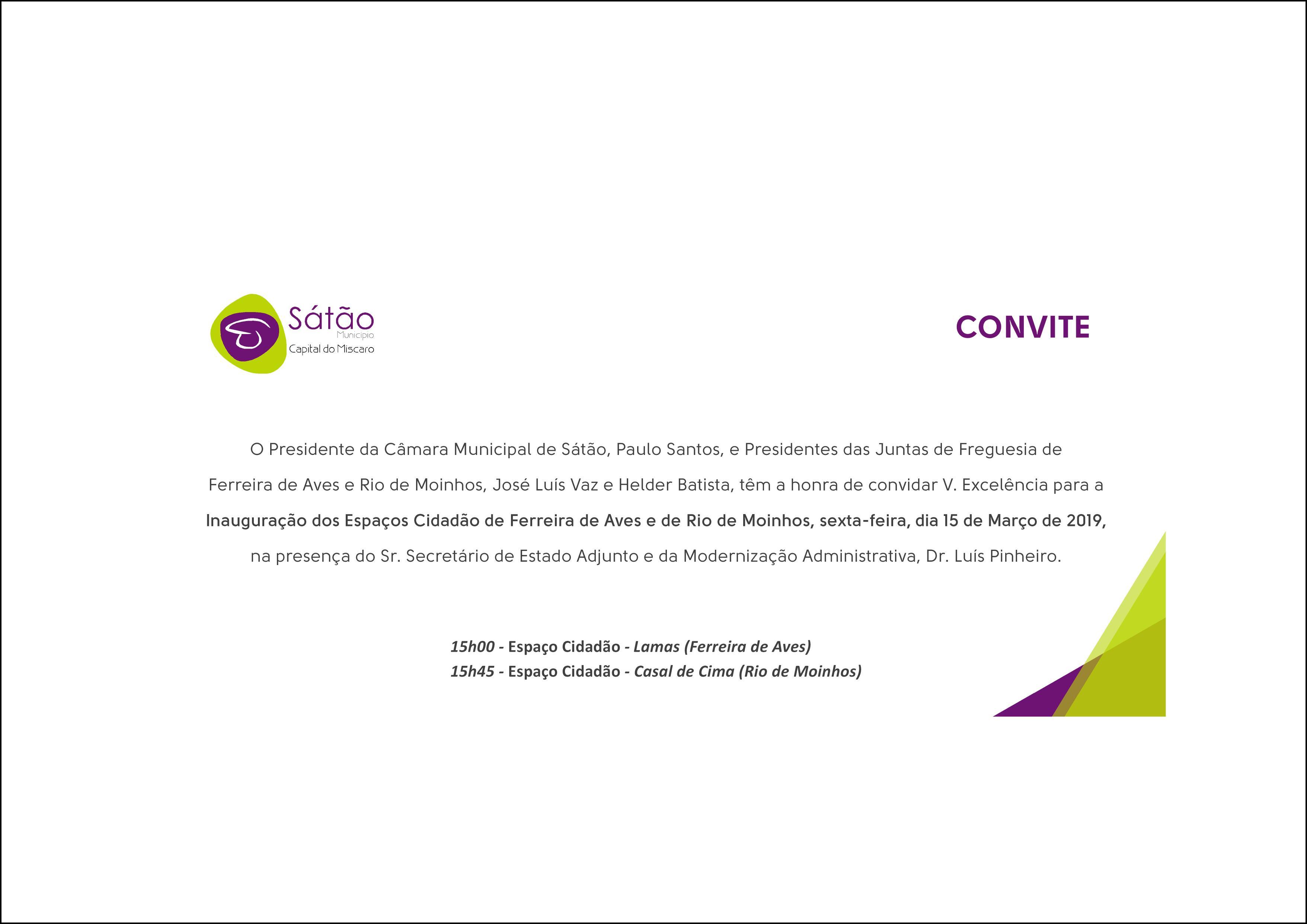 c6fd47ff8 Inauguração dos Espaços Cidadão de Ferreira de Aves e Rio de Moinhos